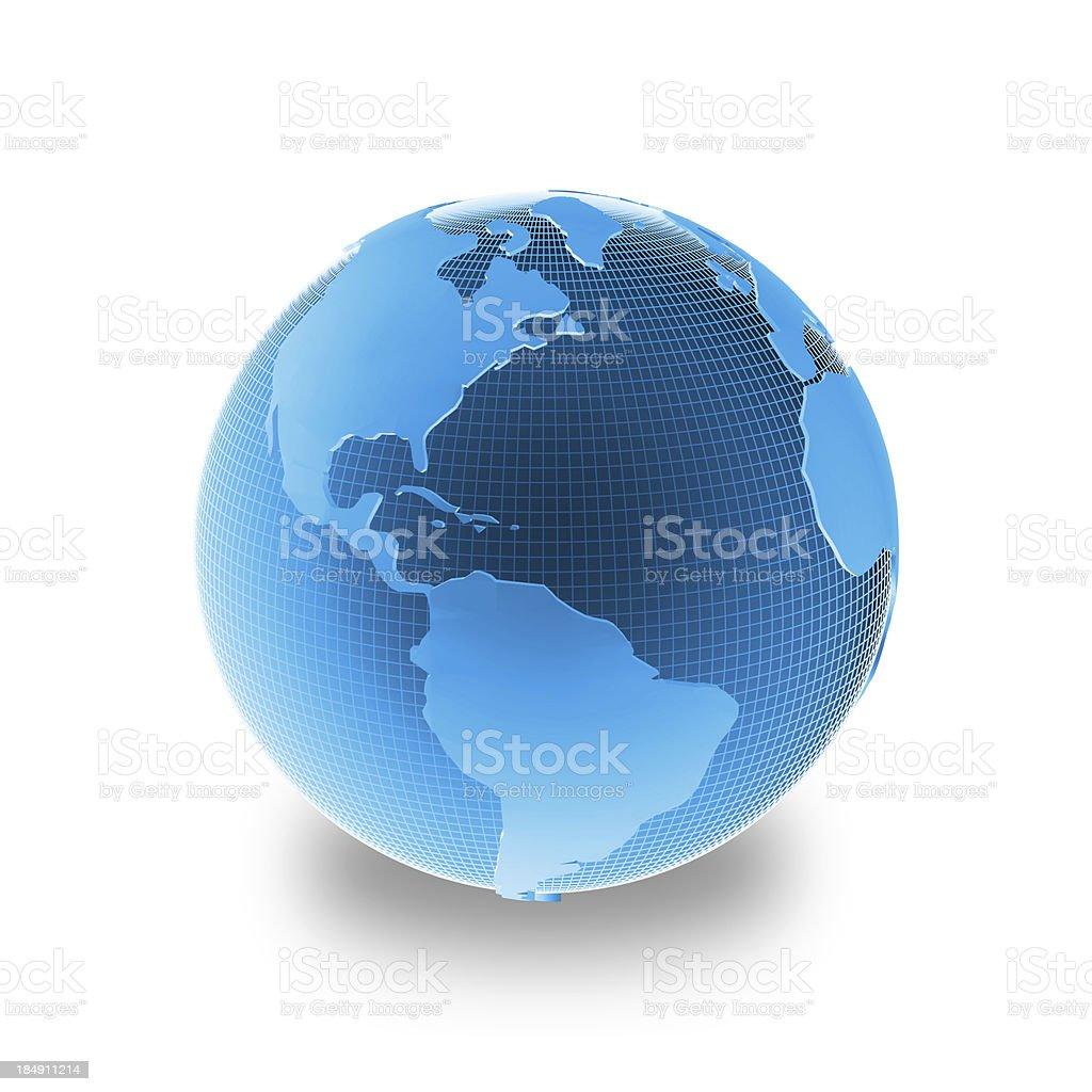Blue globe - America stock photo