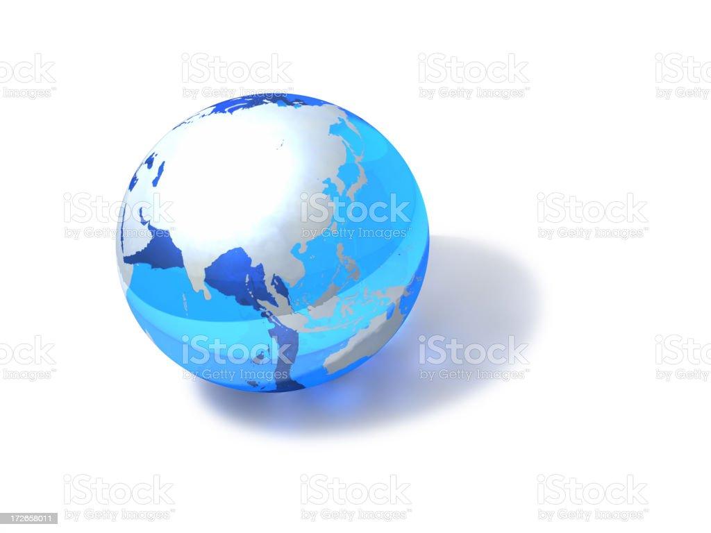 Blue Globe - Asia royalty-free stock photo