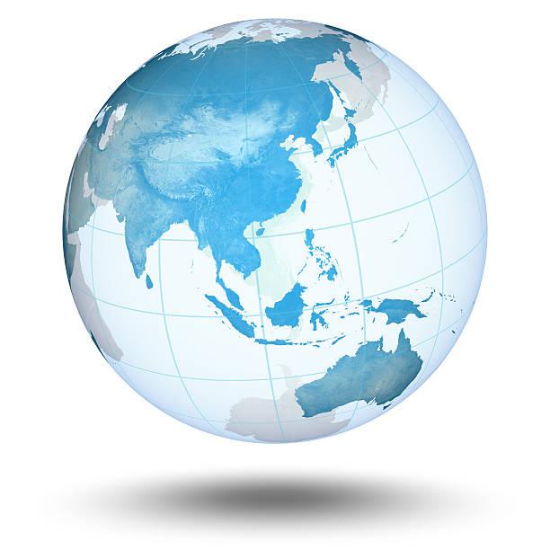 Blaue Welt-Asiatisch Eastern Hemisphere – Foto
