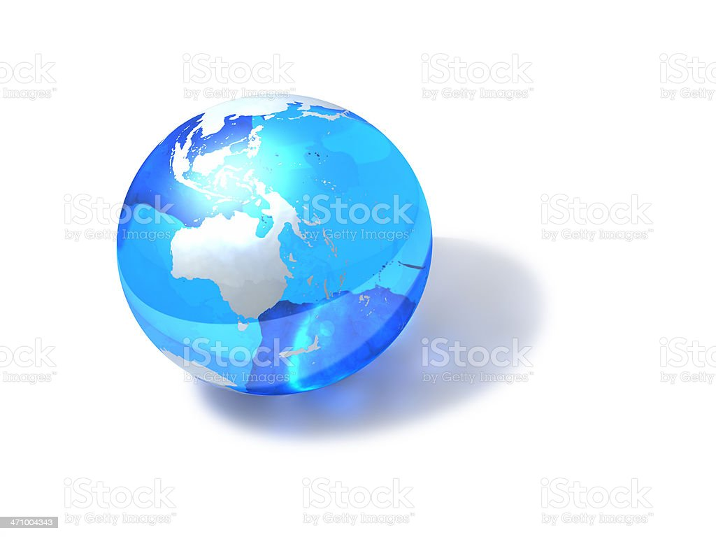 Blue Globe - Australia royalty-free stock photo
