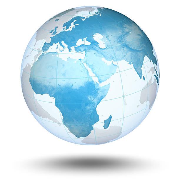 Blauer Globus-europäischen Eastern Hemisphere – Foto