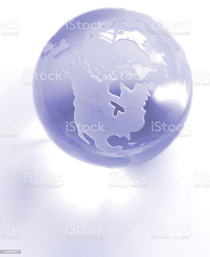 Blue Globe royalty-free stock photo