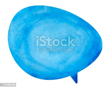 istock Blue Globe Speech Bubble 175488496