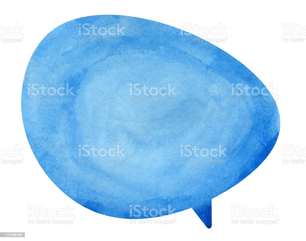 Blue Globe Speech Bubble stock photo