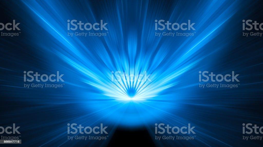 Blau leuchtende Asteroiden-Einschlag-Hintergrund mit Motion blur 8k – Foto