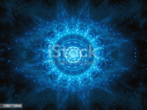 istock Blue glowing big brother is watching concept 1085715940