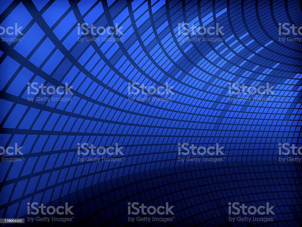Blue glowing equalizer dome abstract stock photo