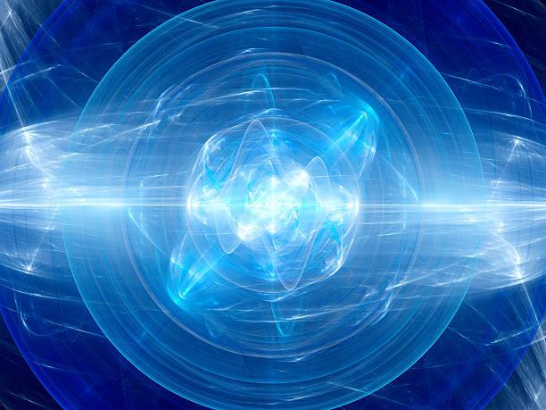 blue glowing fusion with plasma force field - teleport bildbanksfoton och bilder