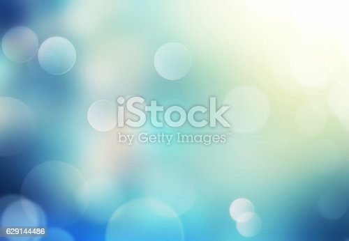istock Blue glowing holiday blurred background. 629144486
