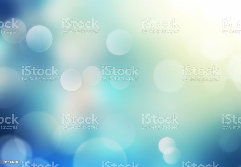 Blue glowing holiday blurred background. stock photo