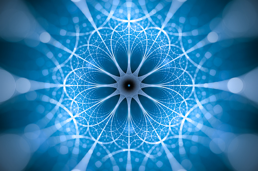 843593806 istock photo Blue glowing network fractal concept 1154947611