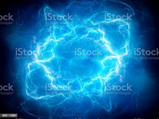 Photo of Blue glowing plasma lightning