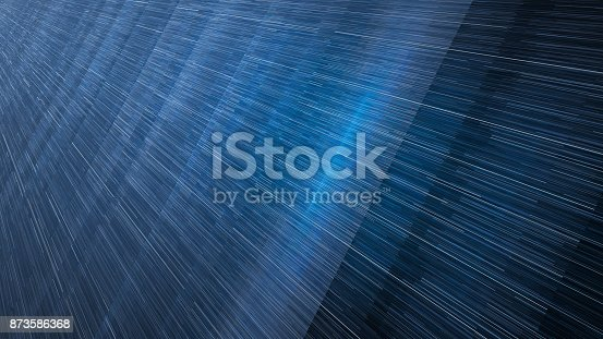 istock Blue glowing stream of lines 873586368