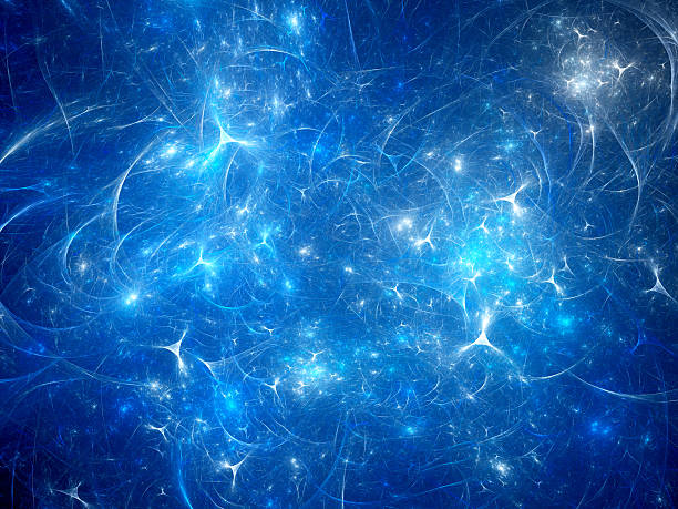 Blue glowing synapses background ストックフォト