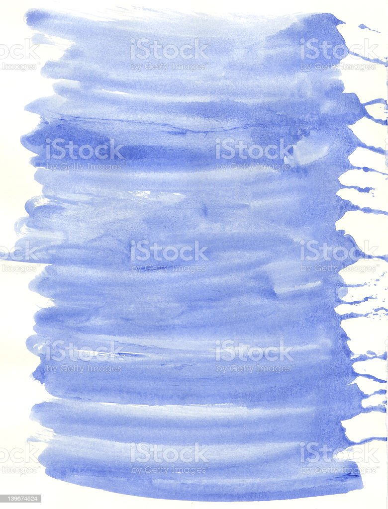 Blue Gouache Paint Wash Texture stock photo