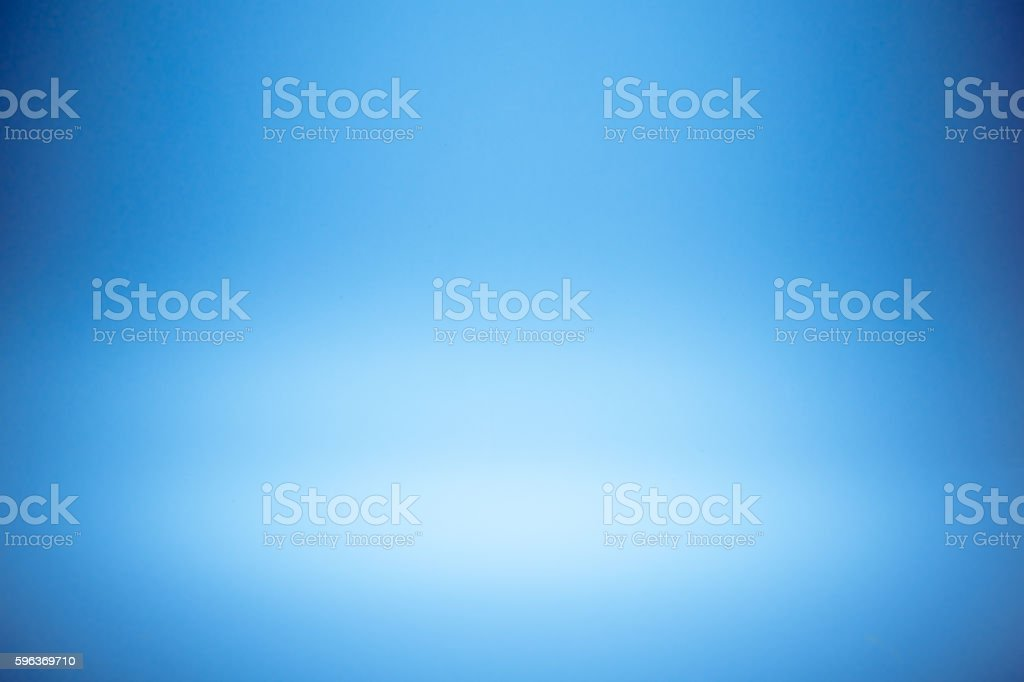Blue gradient abstract studio wall for backdrop design product or stock photo