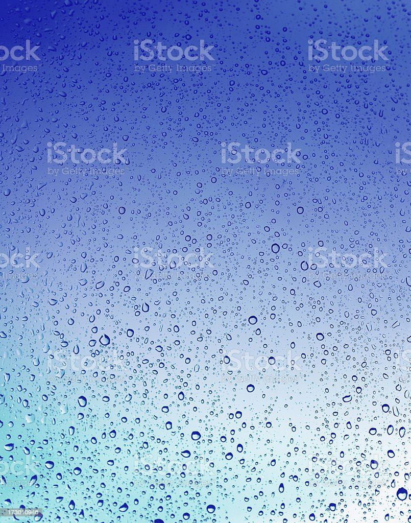 Blue gradient background with water drops royalty-free stock photo