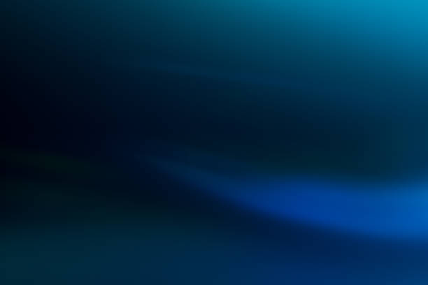 blue gradient soft background lens flare glow stock photo