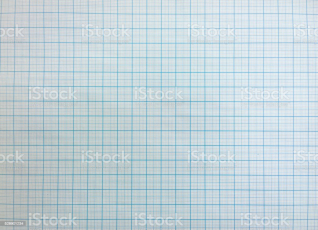 Blue graph paper background texture. stock photo