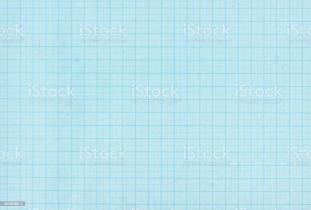 Blue graph paper texture stock photo