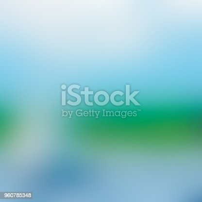 istock Blue green abstract blurred background 960785348