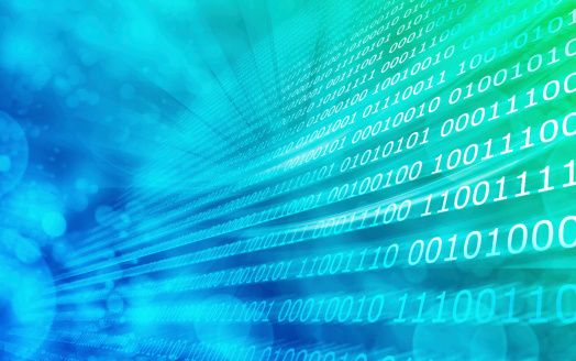 Blau Grün Hintergrund Binärcode Stockfoto und mehr Bilder von Abstrakt