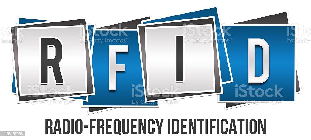 RFID Blue Grey Blocks stock photo