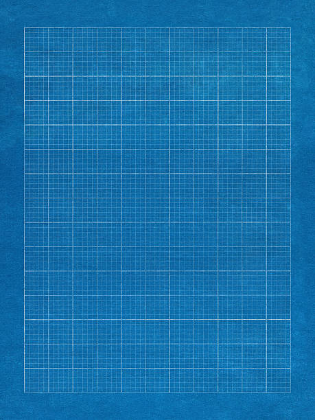 Blue grid paper with white lines stock photo