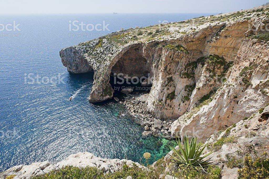 Blue Grotto Malta stock photo