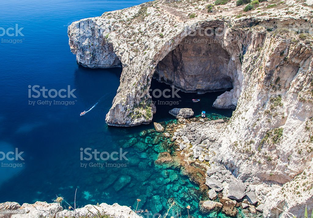 Blue Grotto stock photo