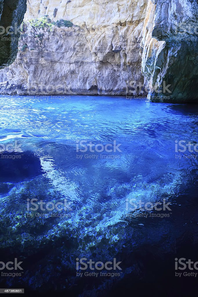 Blue Grotto royalty-free stock photo