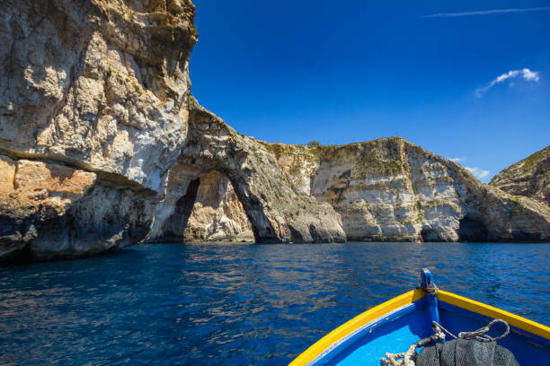Blue Grotto. stock photo