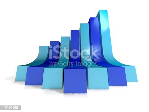 istock Blue growth chart 452101981
