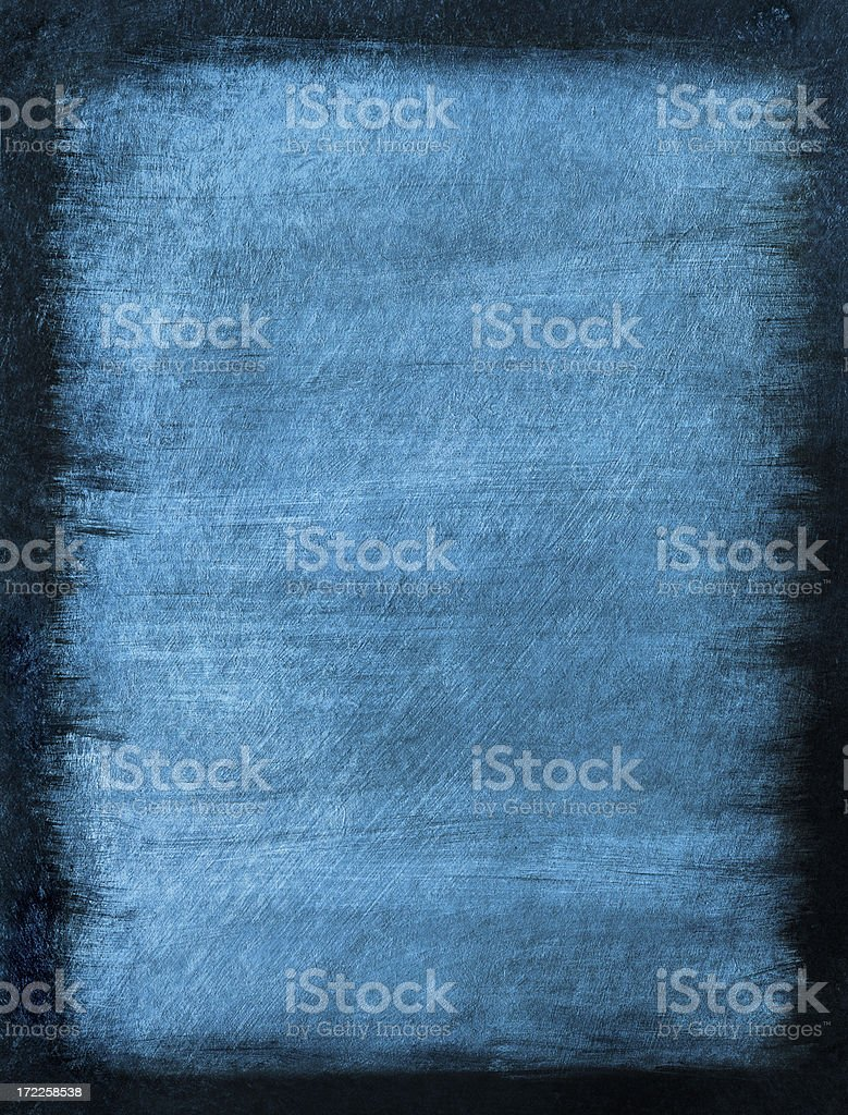 Blue Grunge Background with Black Border royalty-free stock photo