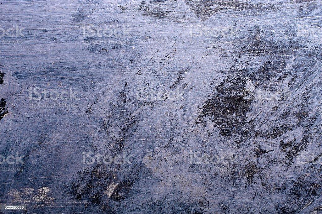 Blue Grunge background with paint brush marks. stock photo