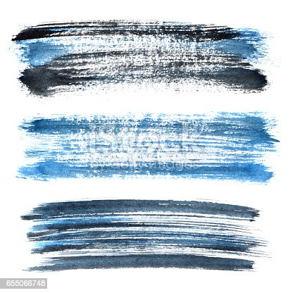 istock Blue grunge brush strokes 655066748