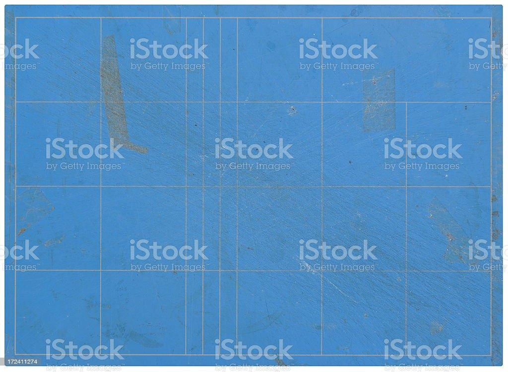 Blue Grunge Cutting Board stock photo