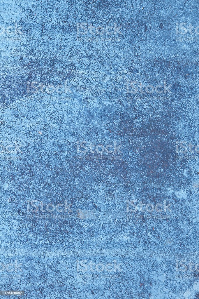 Blue grunge painted background with erosion stains royalty-free stock photo