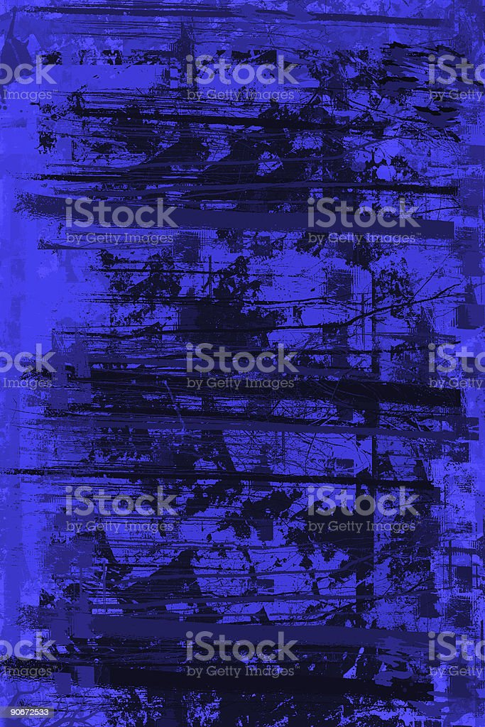 Blue Grunge Perfect Disaster - Background stock photo