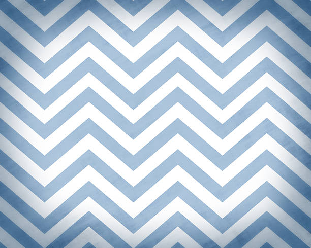 blue grunge textured chevron background - chevron stock photos and pictures