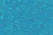 istock Blue Grunge Triangle Pattern Seamless Turquoise Rhomb Texture Geometric Minimalism Computer Graphic 1129946934
