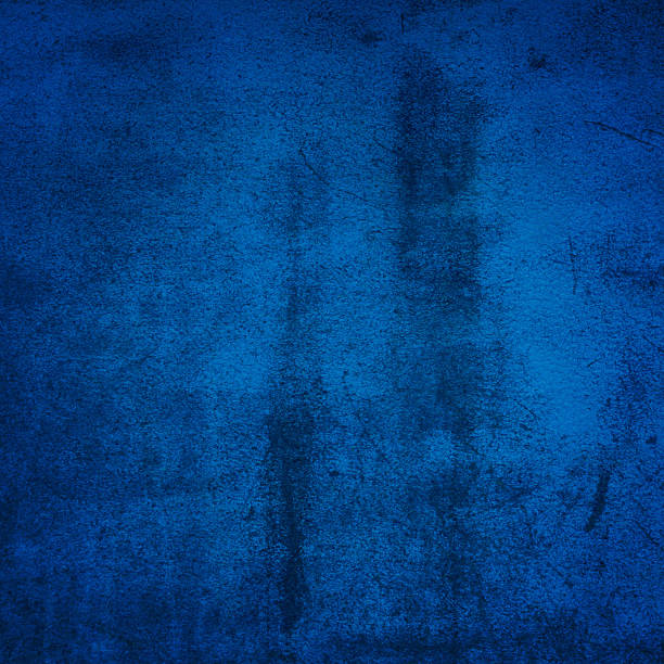 Blue grunge wall stock photo