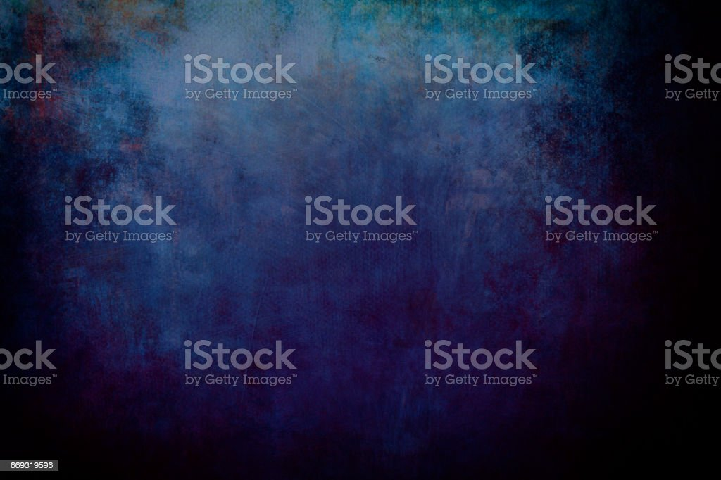 blue grungy canvas background or texture - foto stock