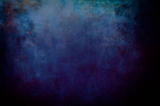blue grungy canvas background or texture - dark blue stock pictures, royalty-free photos & images