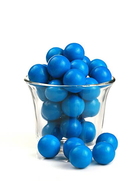 Blue Gumballs stock photo