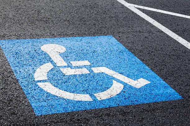Blue handicapped parking spot
