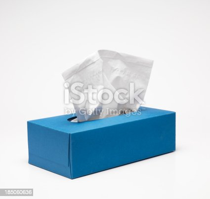 Handkerchief box with clipping path