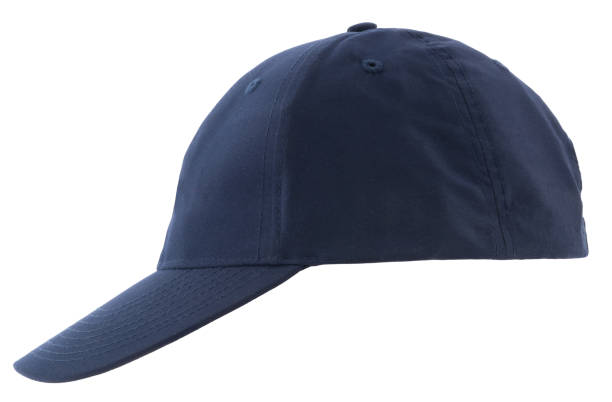 Blue (baseball) hat isolated on white - foto stock
