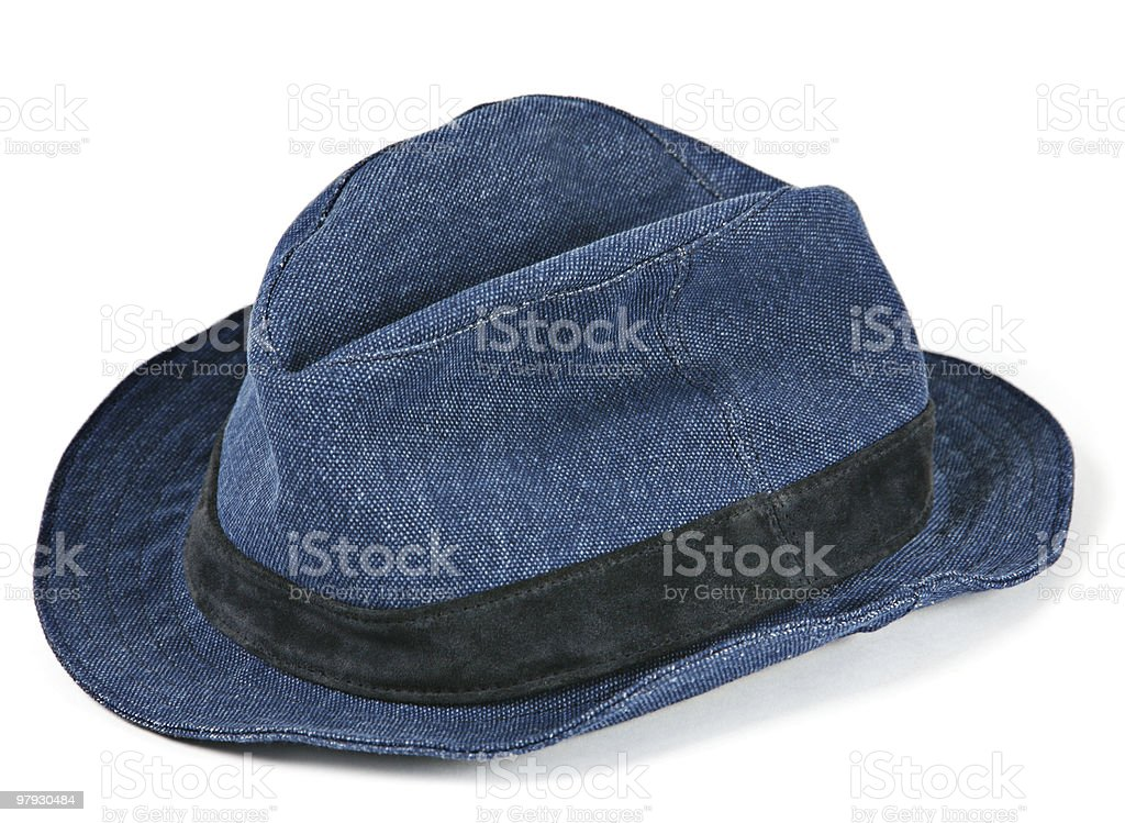 Blue hat royalty-free stock photo