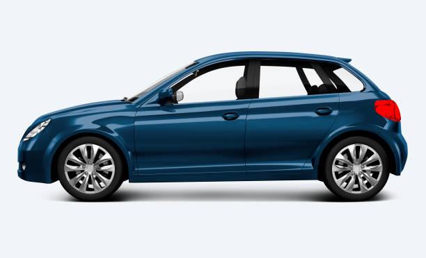 hatchback auto blu - auto foto e immagini stock
